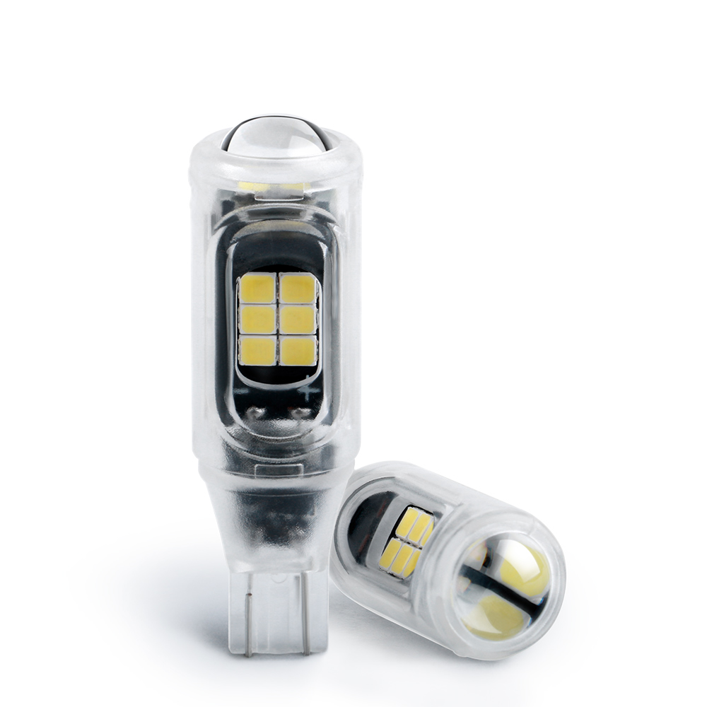 2X T15 W16W WY16W светодиодный сигнальная лампа автомобиля задние тормоза лампы авто задний фонарь без полярности 3030 16 SMD супер яркий 6000K Белый Крас...
