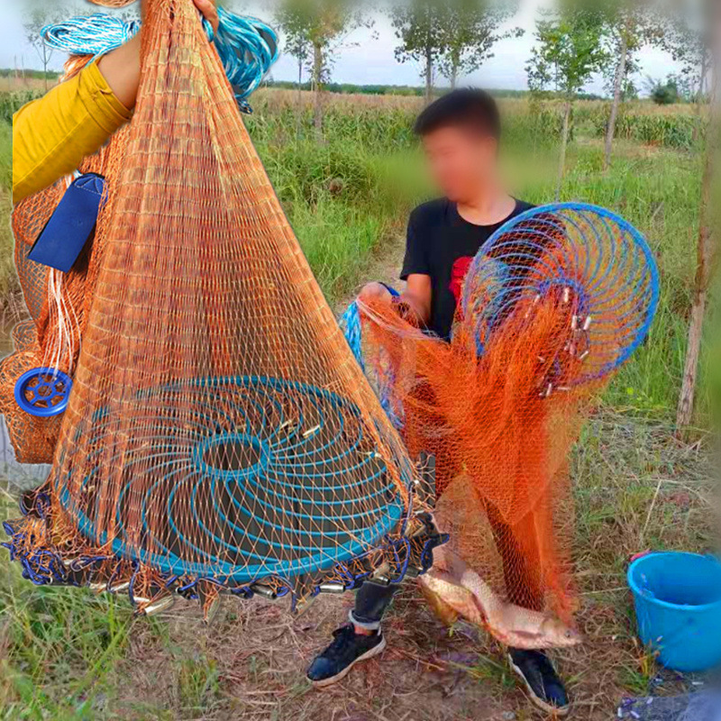 Fool Net Casting Fourth Generation Frisbee Fishnet Cast Net Hand Sprinkle Seine Fishnet Fishing Automatic Yi Pao Network Net Spi
