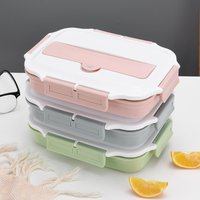 304 Stainless Steel Split Lunch Box Insulated Student Lunch Box Fast Food Plate Sealed Lunch Box