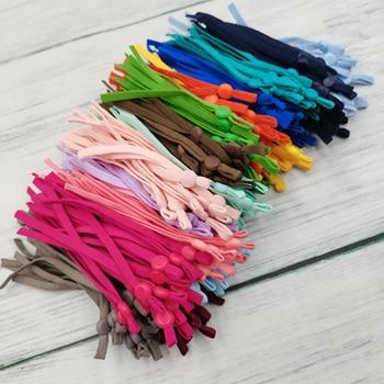 100 cordones elásticos para costura en mascarilla con hebilla ajustable, cordón elástico para sujección a las orejas, para máscara de protección facial, DIY, 100 unidades Bandas elásticas    -