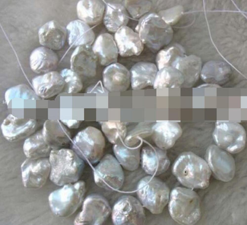 Бесплатная доставка пресноводный жемчуг белый reborn keshi 15