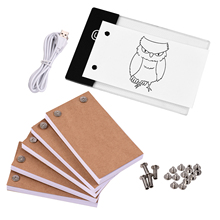 Light-Pad Flip-Book-Kit Tablet Drawing-Paper with 300-Sheets for Binding-Screws