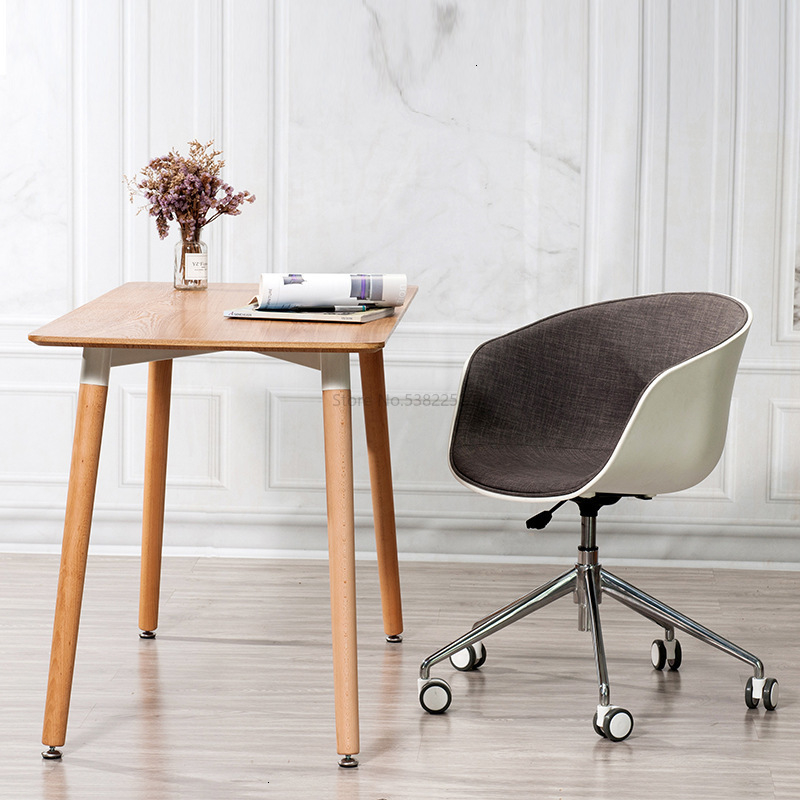 Scandinavian Home Computer Chairs Simple Modern Leisure Swivel Chairs Creative Study Backrest Seats Lazy Office Chairs