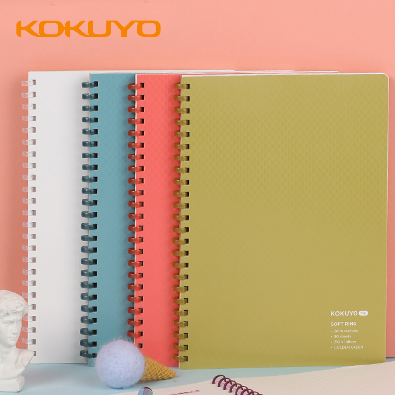 1pcs KOKUYO ME Soft Coil Notebook 5mm Square Grid Notebook Female A5 Simple Grid Coil Ring