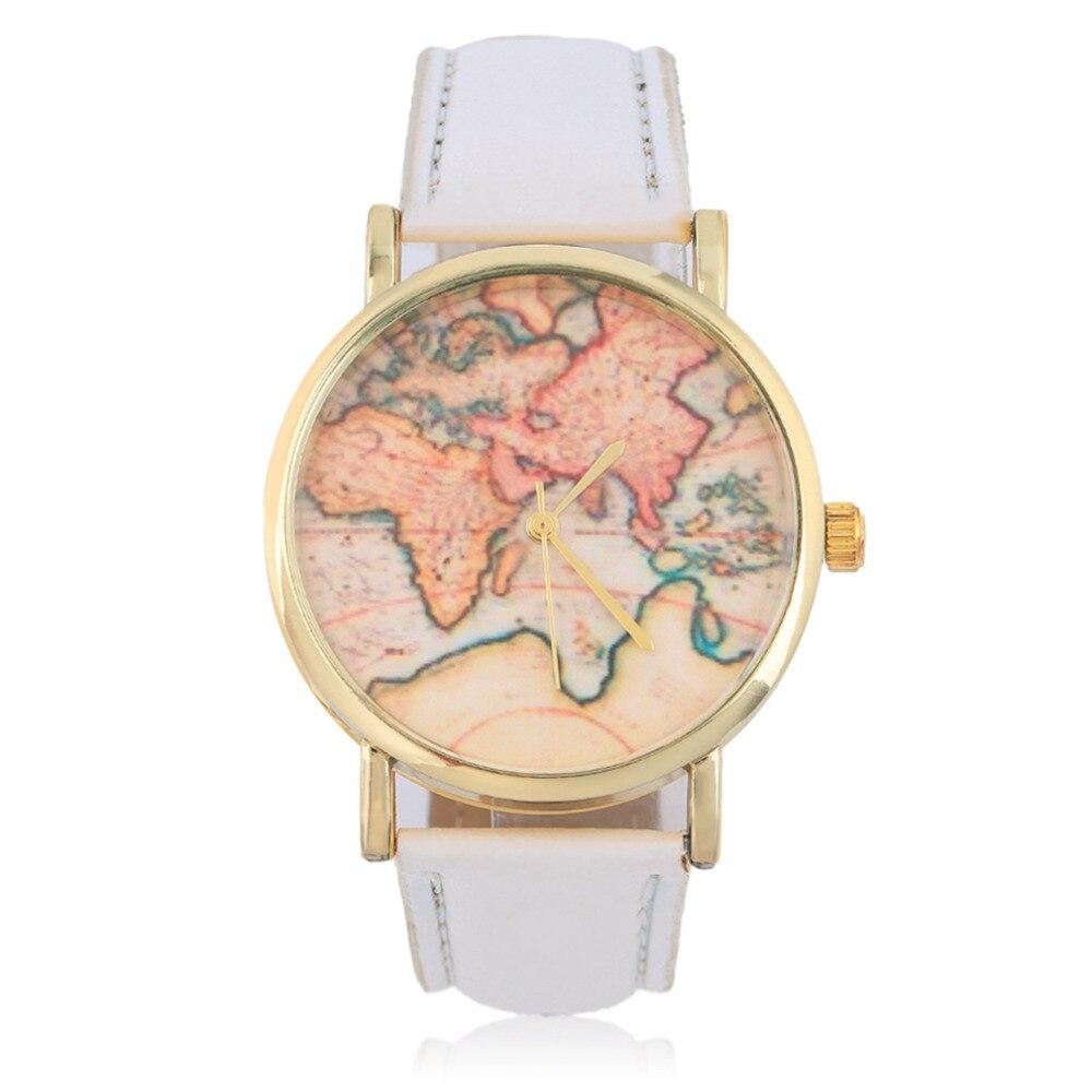OUTAD New Stylish Women Female Geneva Globe World Map Watch Geneva Watche Dress Watches Quartz Wrist Relogio Feminino Gift For