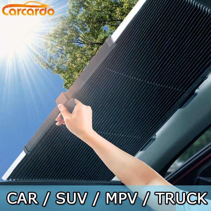 Carcardo Retractable Windshield Sunshade Car Sunshade Car Window Shade Car Windshield Sunshade Car Front Window Sunshade Anti UV
