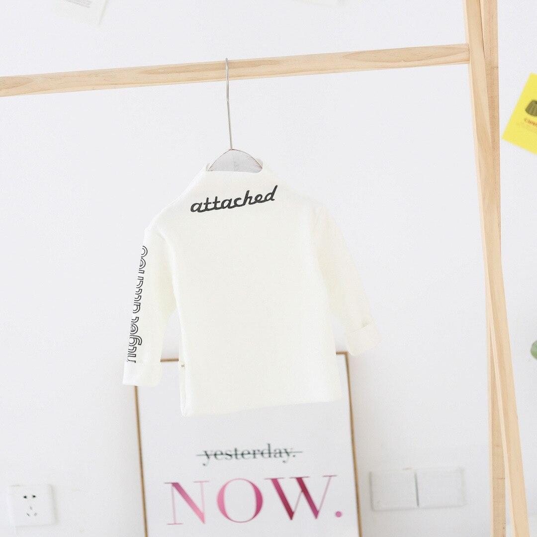 WLG/детская футболка; модные топы для мальчиков и девочек; хлопковая теплая зимняя одежда с принтом