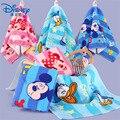 Полотенце для лица с мультяшными героями Диснея, Микки Маус, Холодное сердце, Эльза, принцесса, хлопковое Марлевое детское полотенце для нов...