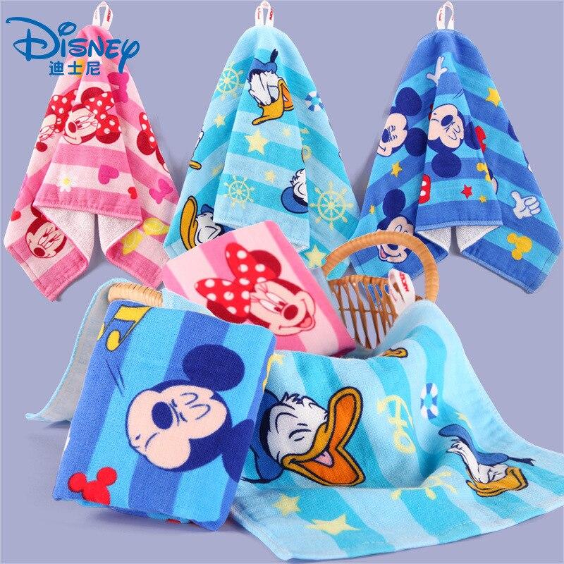 Serviette de visage dessin animé Disney Mickey Mouse | Reine des neiges, serviette de visage de princesse Elsa en gaze de coton, serviette de bébé nouveau-né, serviettes pour enfants garçon fille, serviettes mouchoir cadeau