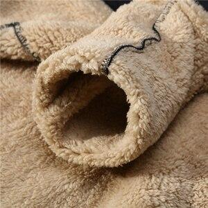 Image 4 - 따뜻한 양고기 캐시미어 겨울 운동복 캐시미어 tracksuit 남자 겨울 양털 두꺼운 남자 까마귀 + 바지 브랜드 캐주얼 후드 트랙 정장