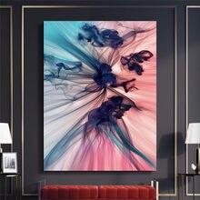 Pósteres nórdico abstracto moderno Color lienzo en módulos cuadro de pintura impresa arte de pared decoración del hogar para sala dormitorio Oficina Imagen
