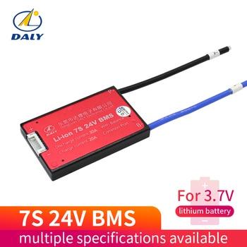Водонепроницаемый 7S 15A 20A 30A 40A 60A 24В литиевая батарея Защитная плата BMS электрическая зарядка Li Lipo NiCoMn ионные ячейки с балансом