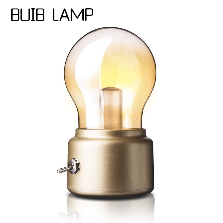Bulb Light USB Night Light Retro Novelty Glass Creative Led Table Light Night Lighting House Of Novelty