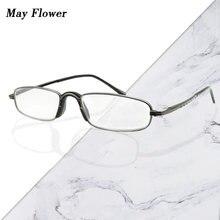 Маленькие металлические очки для чтения may flower мужчин и
