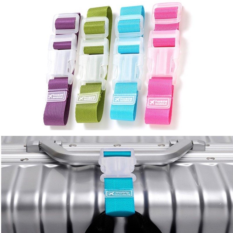 8 Colors Adjustable Nylon Lock Travel Luggage Straps Belt Protective Travel Accessories Suitcase Packing Belt Hanging Buckle