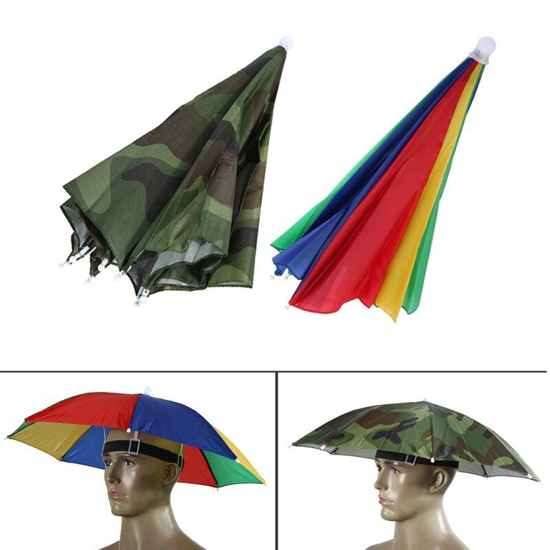 Umbrella Hat Sun Shade Camping Fishing Hiking Outdoor Foldable Headwear FO