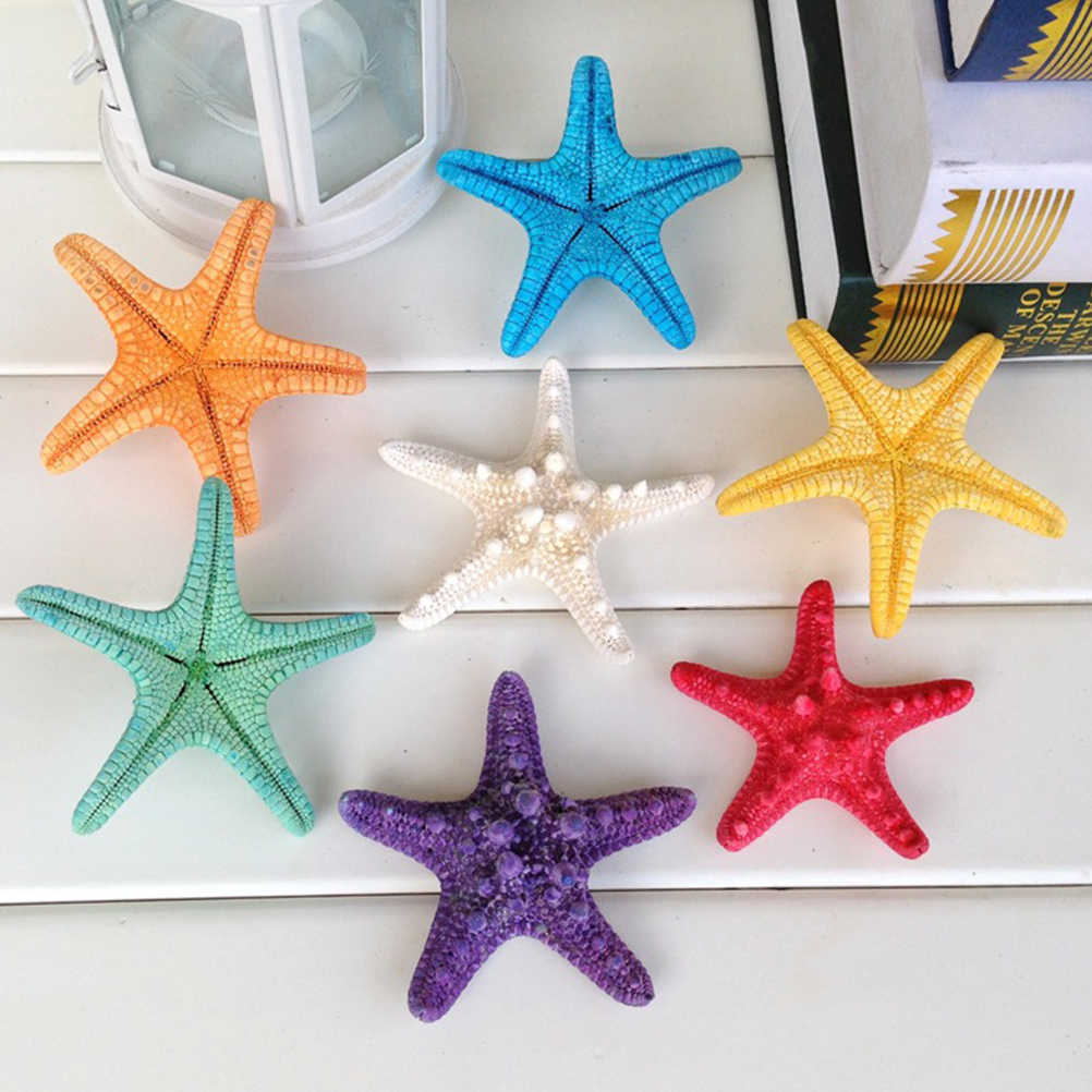 10 Pcs Sea Star Ornaments Interesting Ocean Theme DIY Craft Projects Photo Props Beach Party Pendants for Pool Pond Fish Tank