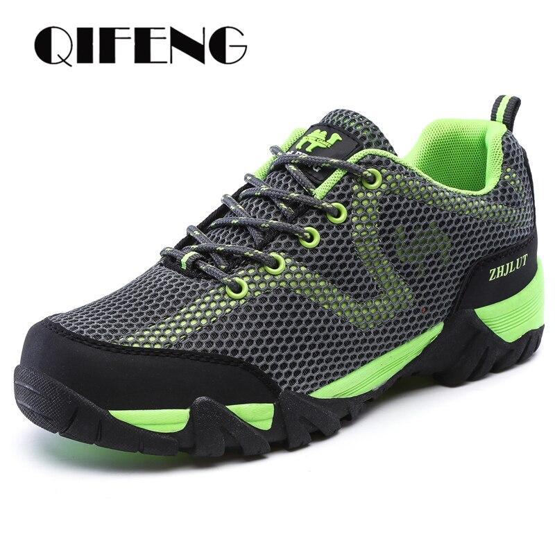 Повседневная обувь для мужчин и женщин, для спорта на открытом воздухе, дышащая, для пешего туризма, с сеткой, износостойкая, обувь для