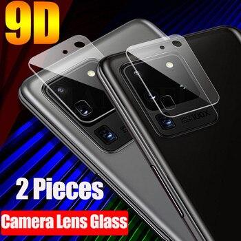 Перейти на Алиэкспресс и купить 2 шт. 9D объектив камеры закаленное стекло для Samsung Galaxy S20 Ultra 5G S20 + S20 A51 A71 S10 Note 10 Lite защита экрана мягкое стекло