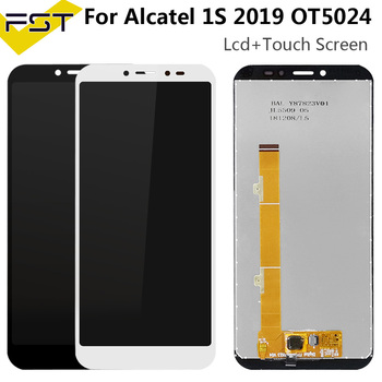5.5'' Black For Alcatel 1S 2019 OT5024 5024A 5024D 5024I 5024J LCD DIsplay+Touch Screen Digitizer Assembly Spare Parts+Tools