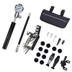 22In1 narzędzia do naprawy roweru wodoodporna przenośna rowerowa zestawy do naprawy opon pompka rowerowa jazda na rowerze do naprawy torba na narzędzia stojak rowerowy