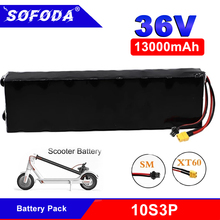 36V 13Ah 10S3P 18650 Lithium Battery Pack 13000mah 250W-500W Same Port Electric Scooter M365 Ebike Power Battery with BMS