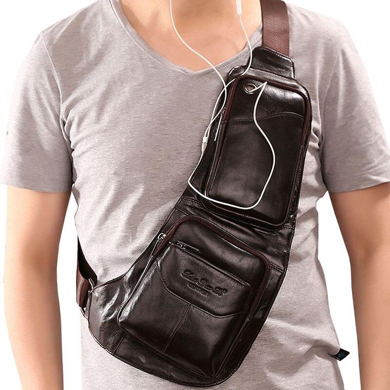 Где купить Мужская сумка-мессенджер, водонепроницаемая, винтажная, кожаная, на ремне