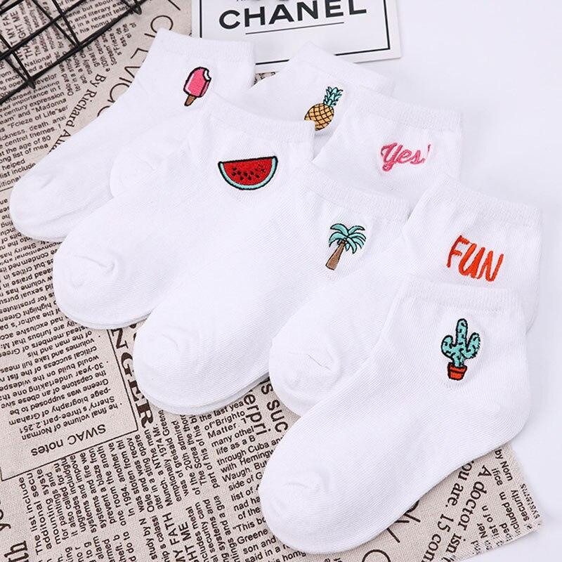 Children's cotton socks Cute Cartoon fruit embroidery socks comfortable cartoon socks kids socks Children's socks baby socks 1