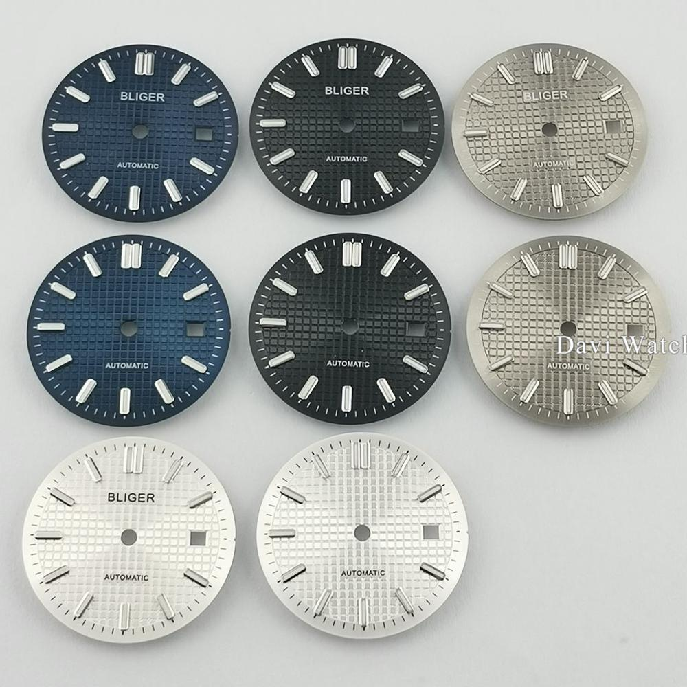 31mm Bliger/Sterile Watch Dial Black/Blue/Silver/Gray Watch Dial Parts Fit ETA 2836/2824 DG2813/3804 Miyota 8215 821A Movement
