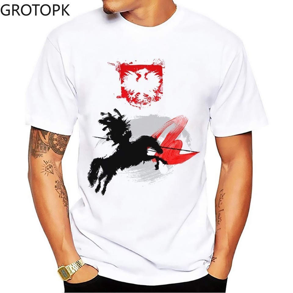 Men T Shirt Hussar Artistic Knight T Shirt Men Summer New White Homme Cool Polish Cavalry Tshirt Funny T Shirts Grinch Aliexpress