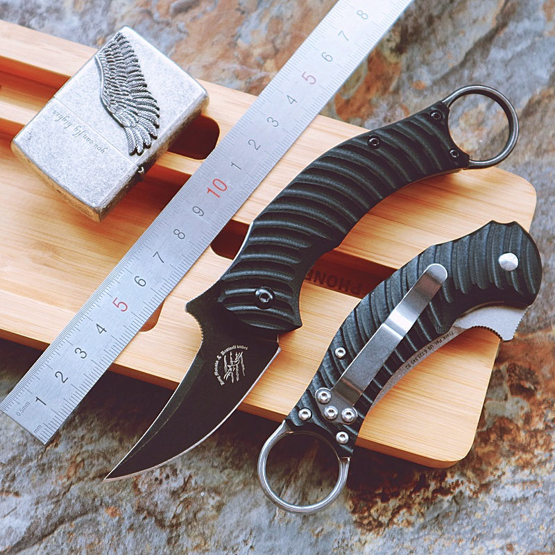 Tools : CS GO Claw knife folding knife mark N690 Blade G10 handle camping pocket outdoor hunting knives EDC hand tools Survival knife