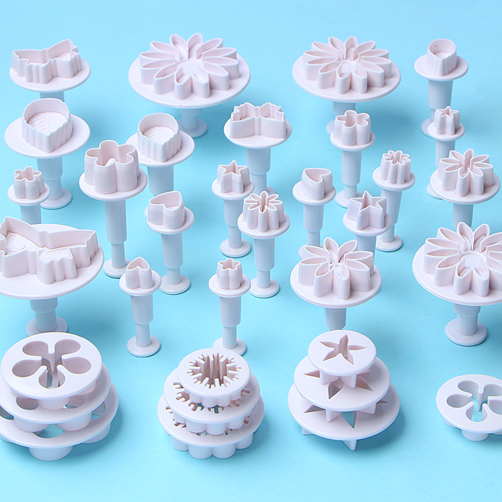 33 pcs Cake Fondant Plunger Cutters Set
