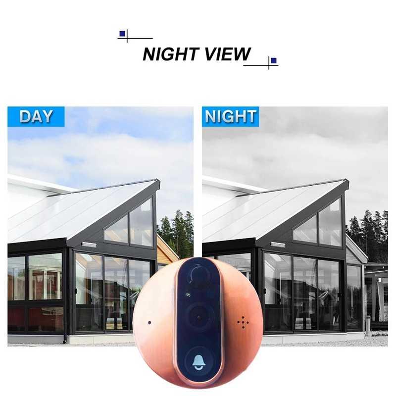 4.3 بوصة واي فاي الذكية LCD الرقمية ثقب الباب كاميرا المشاهد شاشة عالية الوضوح مع للرؤية الليلية PIR كشف الحركة APP التحكم عن بعد