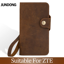 For ZTE Blade A210 A452 A512 A520 A530 A610 V7 lite V8 mini V9 V10 Vita Case Cowhide Wallet crazy horse skin Phone Cover