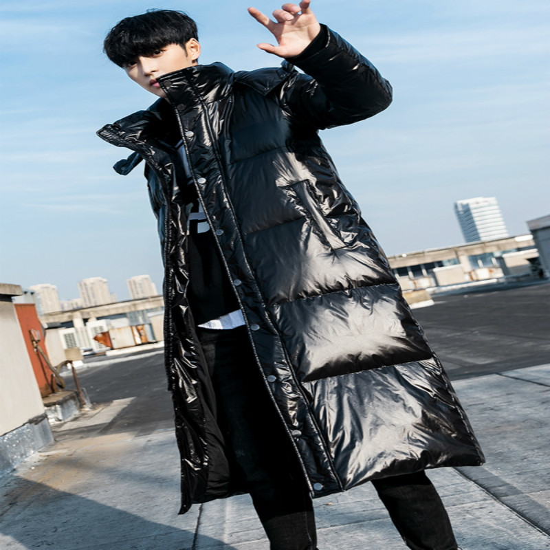 Men's Down Jacket Winter Down Coat Male Fashion Thick 90% Duck Down Jackets Long Coats Warm Hooded Clothing 2019 190215