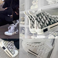Vulcanized Shoes Luxury Brand Designer Women's Casual Shoes Lace Up Round Head Thick Sole Oblique High Men's Fashion 2021