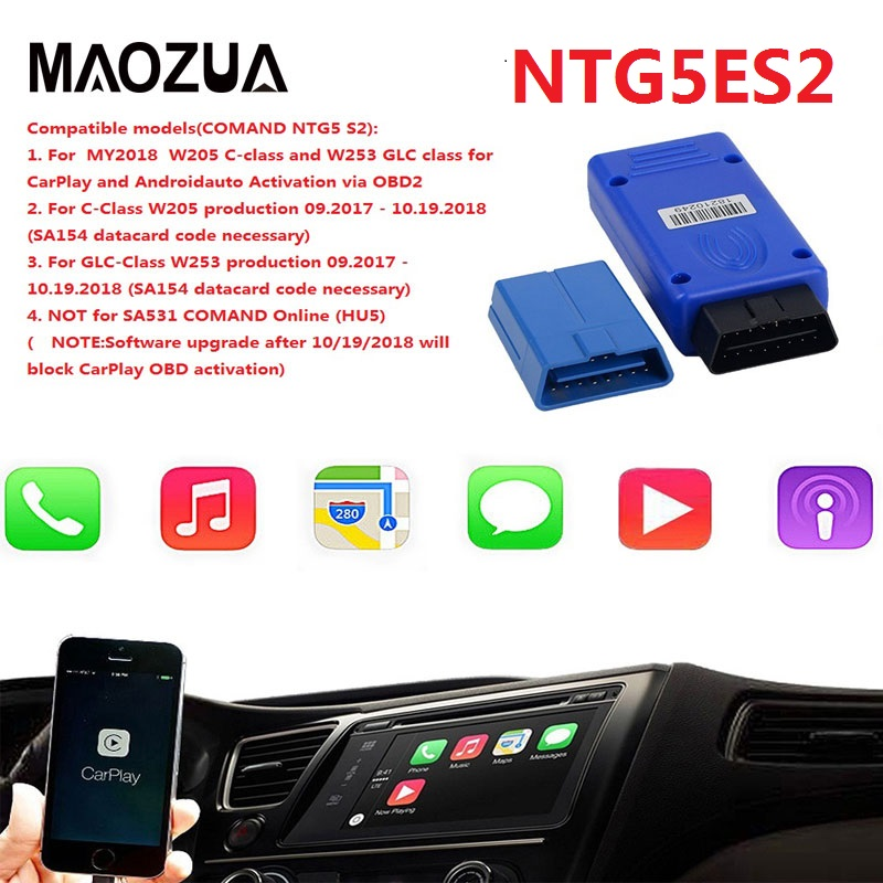 NTG5E S2 Ntg5 S2 W205 C W253 GLC  NTG5 S1 for Apple CarPlay /Android Auto Activation Tool Safer Way to Use For iPhone/Android|Car Diagnostic Cables & Connectors| |  - title=