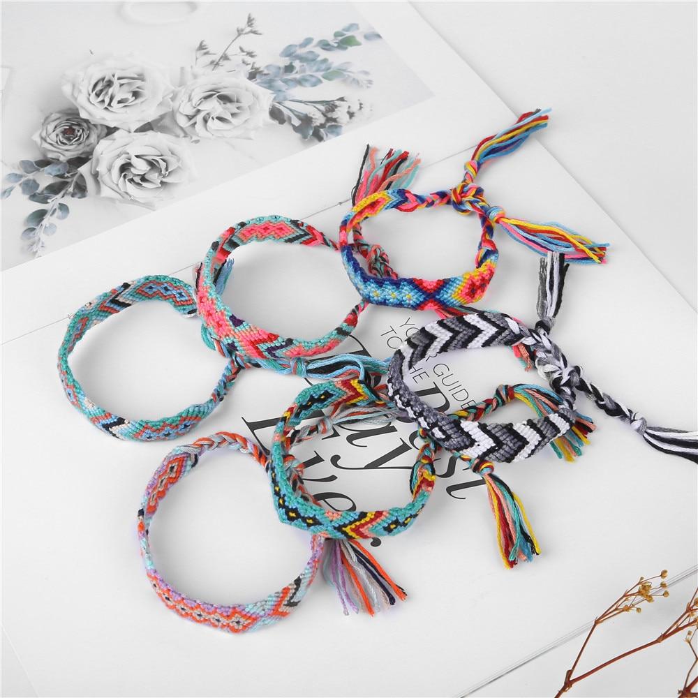 2019 Bohemia Style Weave Rope Friendship Bracelets For Woman Men Cotton Handmade Charm Bracelet & Bangles Ethnic Jewelry Gifts