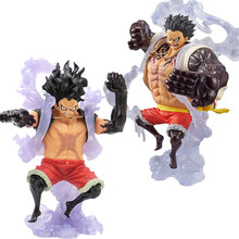 18 cm anime figura rei do artista o homem cobra luffy snakeman macaco d luffy engrenagem 4 figura pvc brinquedos colecionáveis