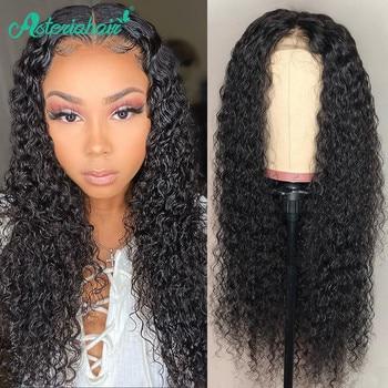 Pelucas de cabello Asteria 4x4 con cierre de onda de agua, pelucas de cabello humano frontal para mujeres, pelucas de cabello humano 150% Natural Remy Natural negro