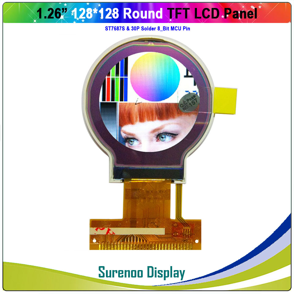 1.26 Inch Round Circle Circular128X128 TFT LCD Display Module Screen Build-in ST7687S Controller