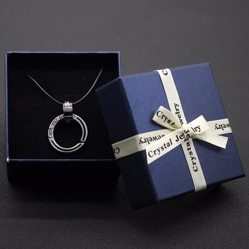 Square Shape Jewelry Earrings Rings Necklace Gift Boxes Black Square Carton Bow Case For Women And Men Package Gift Box