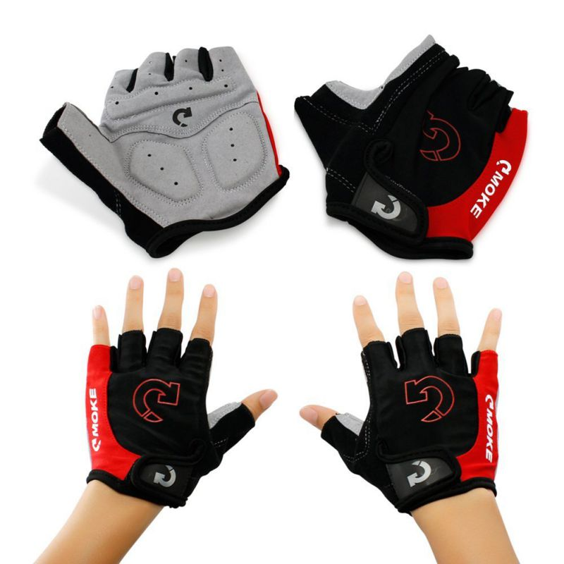 1Pair Anti-Slip Half Finger Cycling Gloves Bicycle