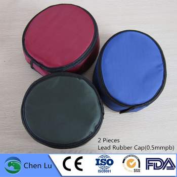 Wholesale 2 pieces nuclear radiation protective 0.5mmpb lead cap x-ray gamma ray protection lead rubber hat