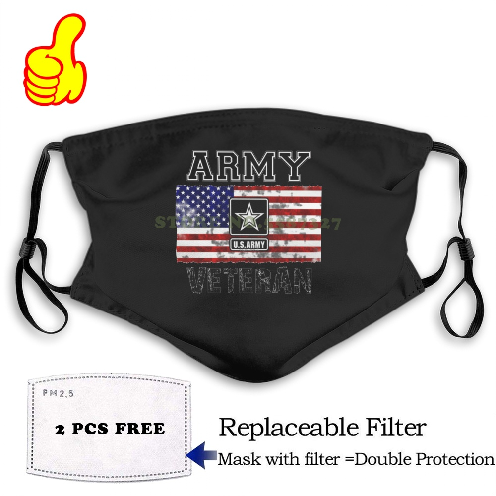 Face Mask US ARMY Anti Dust With Filter For Men For Women Kids Girl Boy Teens Cool Kawaii Funny Design DIY Black Masks