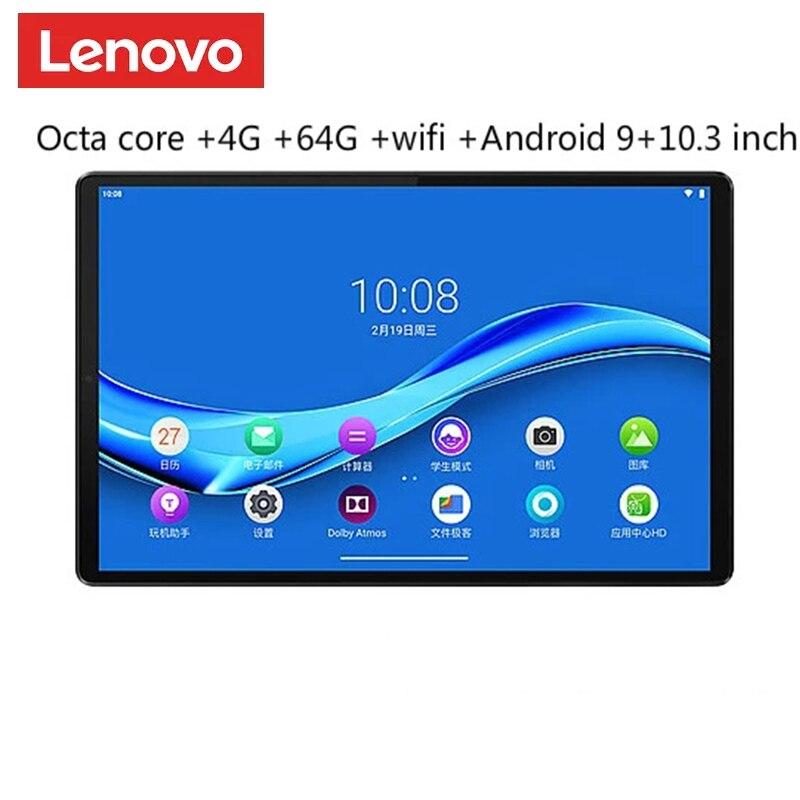 Планшет Lenovo M10 плюс MediaTek P22T, четыре ядра, 4 Гб RAM, 64 ГБ ROM, 10,3 дюймов WIFI Android 9 TDDI FHD 10 точек касания емкостный сенсорный экран планшетный ПК