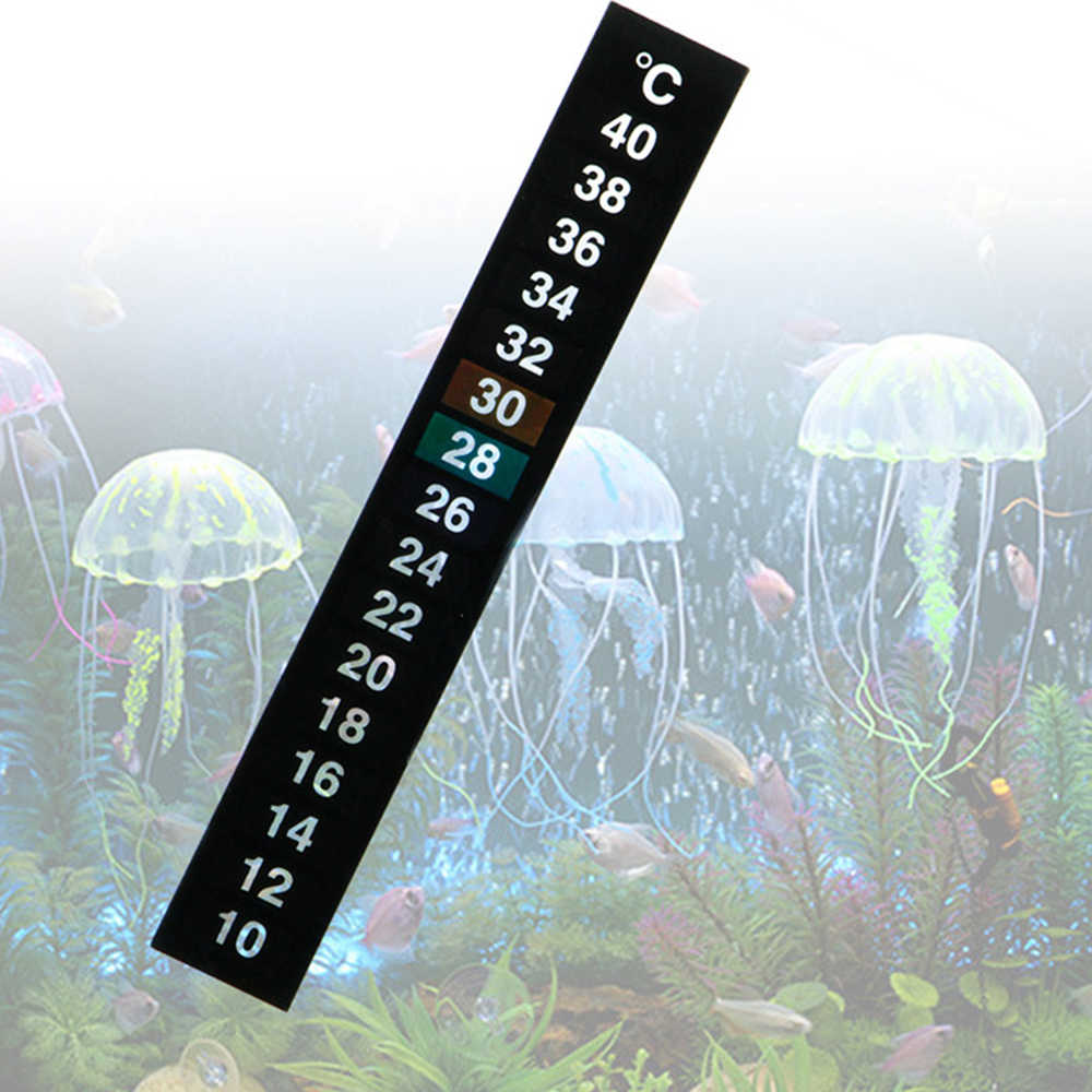 1 Pcs/lot Stick-On Digital Aquarium Ikan Tangki Kulkas Thermometer Sticker Suhu Pengukuran Stiker Alat