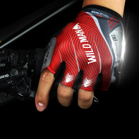 WILD MAN summer riding gloves half finger for men and women cycling gear mountain bike half finger bicycle gloves