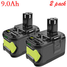 Bonadget Replacement Battery Pack For Ryobi 18V 6000mAh 9000mAh P108 Battery RB18 Lithium Ion Rechargeable Power Tools Battery