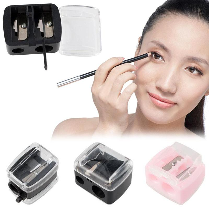 Single / Double Hole Eyebrow Pencil Sharpener 3 Colors Cute Classical Makeup Eye Brow Pen Sharpener Cosmetic Make Up Tools